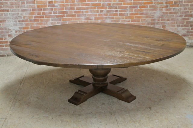 84 Large Round Dining Table Farmhouse Dining Tables