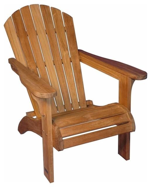Adirondack chair solid teak contemporary adirondack for Teak adirondack chairs design