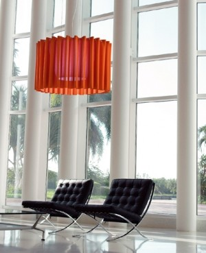 Skirt pendant lamp - SKR150 (large, circular) modern pendant lighting