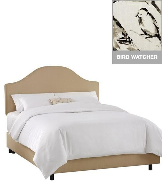 Custom Draper Upholstered Bed Traditional Beds By Home Decorators Collection