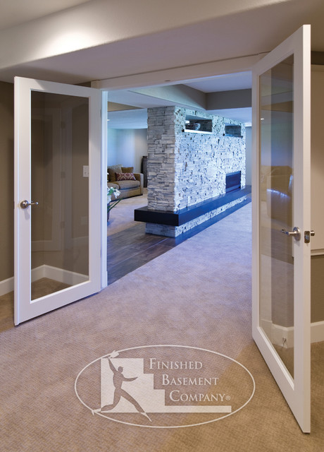 Basement Entry Hallway Modern Basement Denver By