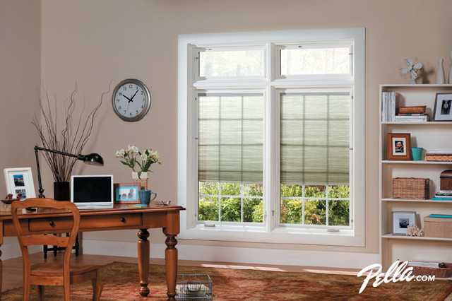 Enjoy the view as you work from home w/Pella® Designer Series® casement windows home-office