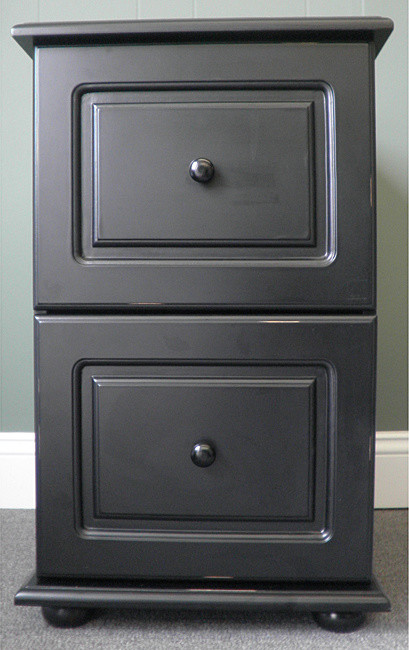 Black wood distressed 2 drawer file cabinet 104.39 @overstock