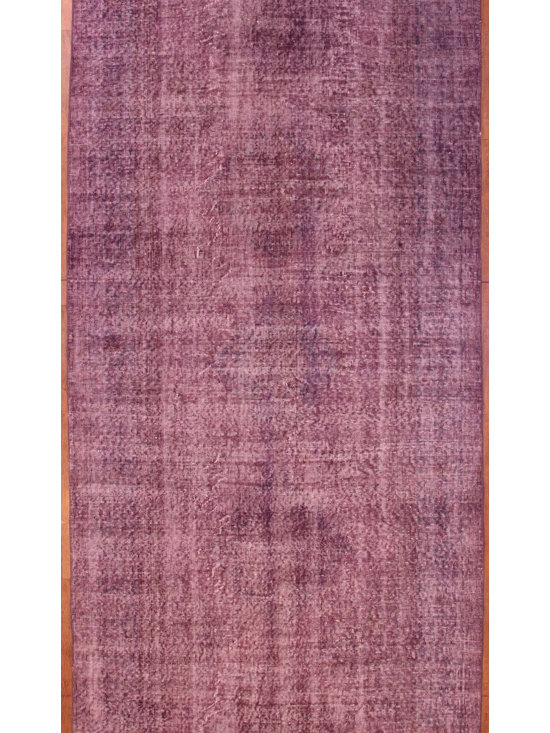Lilac Overdyed Rug - Rich color with hints of underlying pattern revive well-loved vintage Turkish carpets into a truly fabulous area rug.