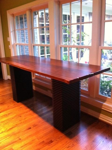 DeVos Woodworking Custom Texas Walnut Desk Top transitional