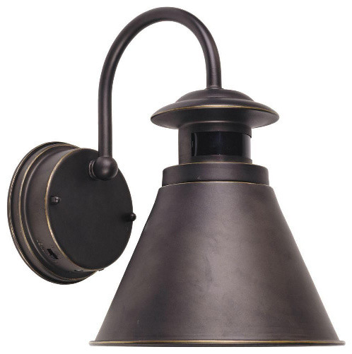 Outdoor Wall Sconce With Light Sensor : Outdoor Wall Lantern with Motion Sensor, Oil Rubbed Bronze Finish - Traditional - Outdoor Flood ...
