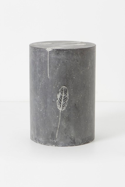 Fallen Leaves Cement Stool contemporary-ottomans-and-cubes