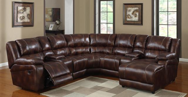 Viewers Modern Dark Brown Sectional Sofa - Modern ...