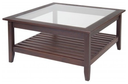 Glass Top Square Coffee Table By Manchester Wood Contemporary Coffee Tables New York By