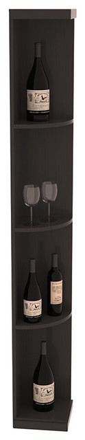 Quarter Round Wine Display in Pine with Black Stain + Satin Finish contemporary-wine-racks