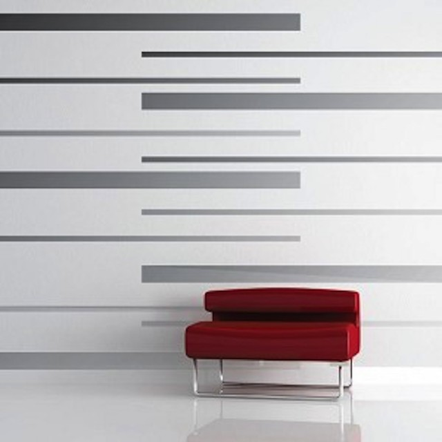 room stripes vinyl wall decals modern wall decals