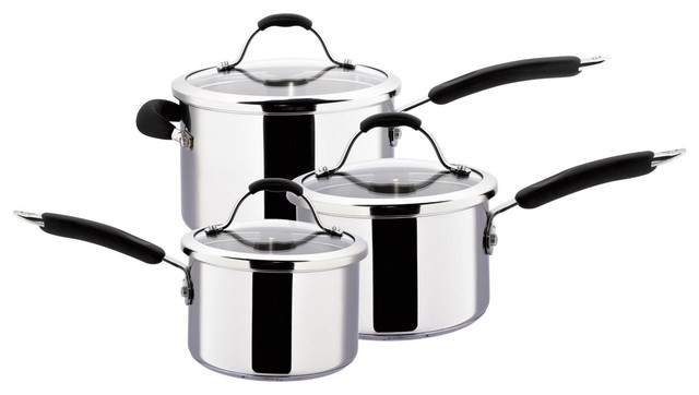 Meyer Maxim Maxim Premier Stainless Steel 3 Piece Pan Set Traditional Cookware Sets By