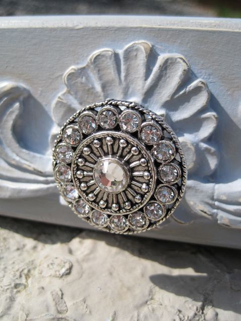 Amazing Round Drawer Knobs with Swarovski Crystals by DaRosa Children's Art eclectic-cabinet-and-drawer-knobs