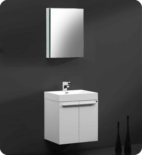 "22.5"" Alto Single Vanity with Medicine Cabinet - White (FVN8058WH) modern"
