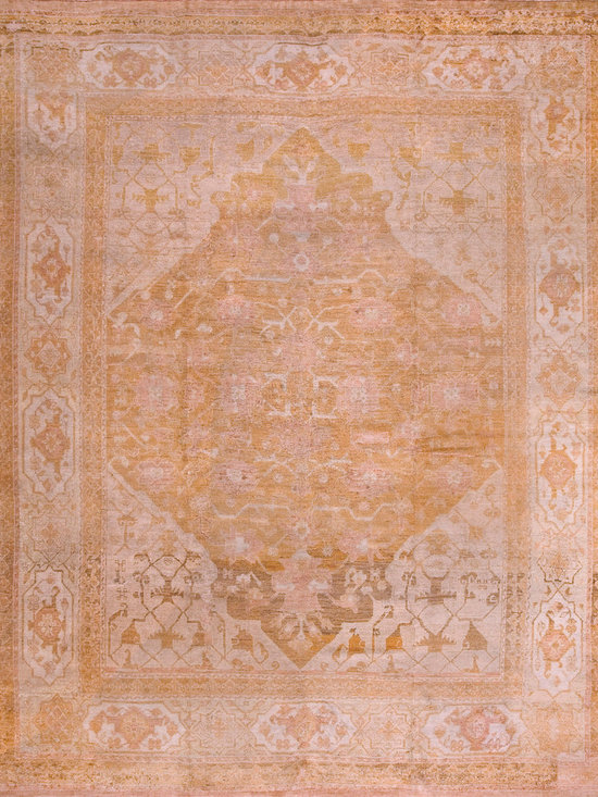 "Antique Turkish Oushak Carpets - #19008 antique Turkish Oushak 11'4"" x 14'0"""