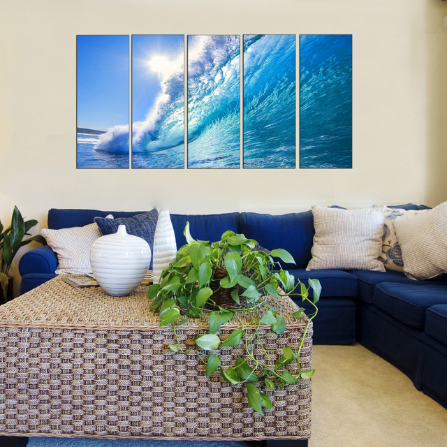 Beach Ocean Wall Decor : Ocean theme wall art beach style new york by vibrant