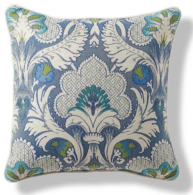 Morocco Garden Wave Outdoor Pillow - Traditional - Outdoor Cushions And Pillows - by FRONTGATE