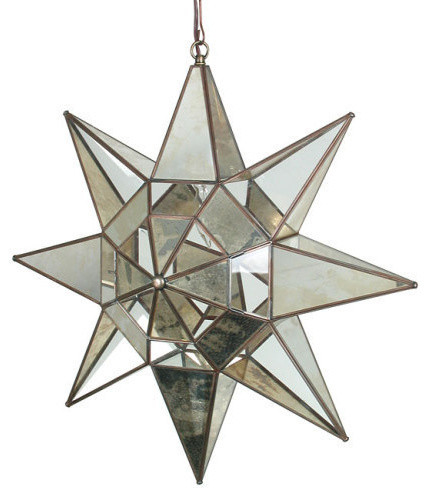 Glass And Mirrors Hanging Star Light Eclectic Pendant Lighting