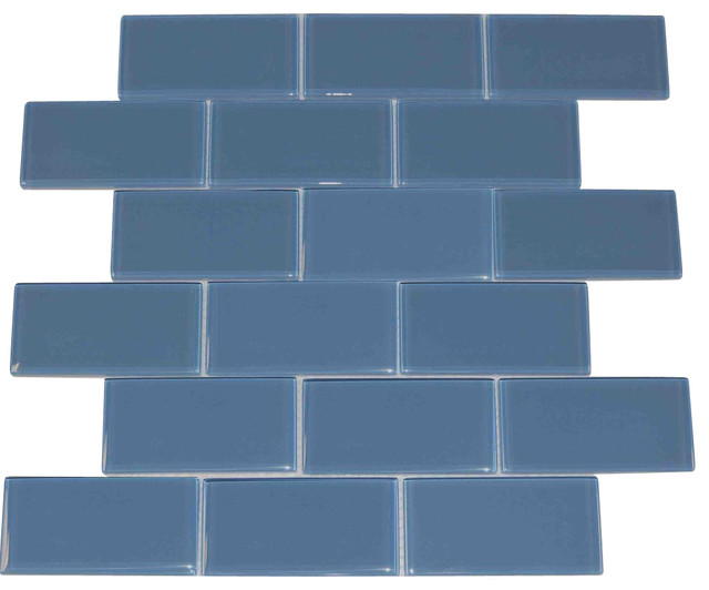 Dark Gray 2x4 Subway Glass Tile Dark Gray 2x4 Carton