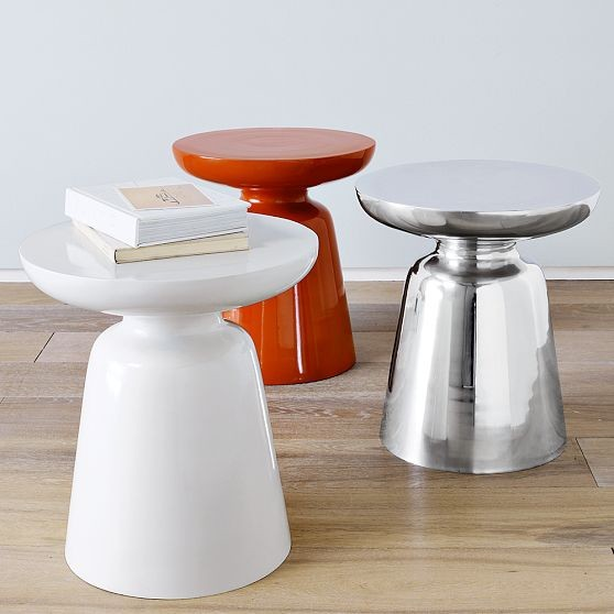 Martini Side Table | West Elm contemporary-side-tables-and-accent-tables