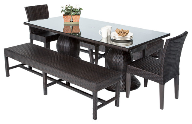 Luxury Outdoor Patio Dining Sets With Bench