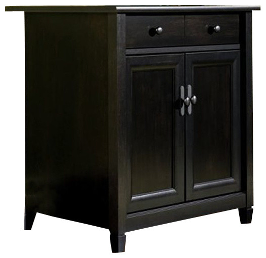 Sauder Edge Water Utility Stand in Estate Black - Transitional - Storage Cabinets - by Cymax