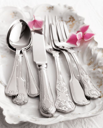 Towle Silversmiths Hotel 90-Piece Stainless Steel Flatware Service traditional-flatware