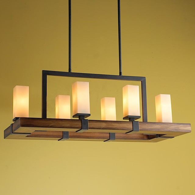 Craftsman Island Chandelier Chandeliers By Shades Of Light