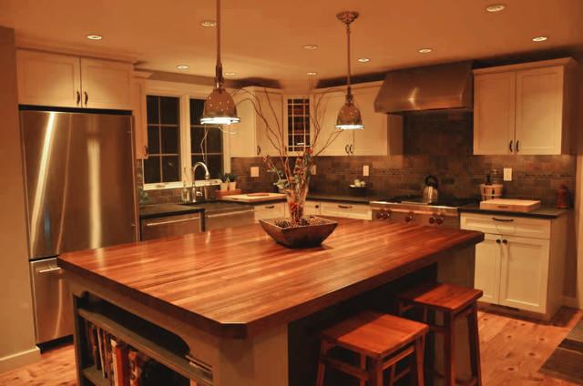 Sapele Mahogany Wood Countertop For A Kitchen Island