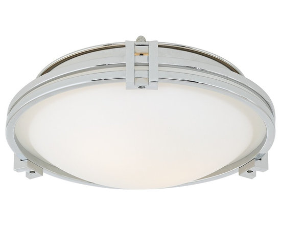 """Possini Euro Design - Possini Chrome 12 3/4"""" Flush Mount Ceiling Light - A perfect flush mount to illuminate your contemporary home this ceiling light features a casual metal frame in a shiny chrome finish. The white glass blends beautifully with the chrome frame for a clean and modern look. Takes two 100 watt bulbs (not included). 4 1/2"""" high. 12 3/4"""" wide.  Chrome finish.  White glass.  Takes two 100 watt bulbs (not included).  4 1/2"""" high.  12 3/4"""" wide."""