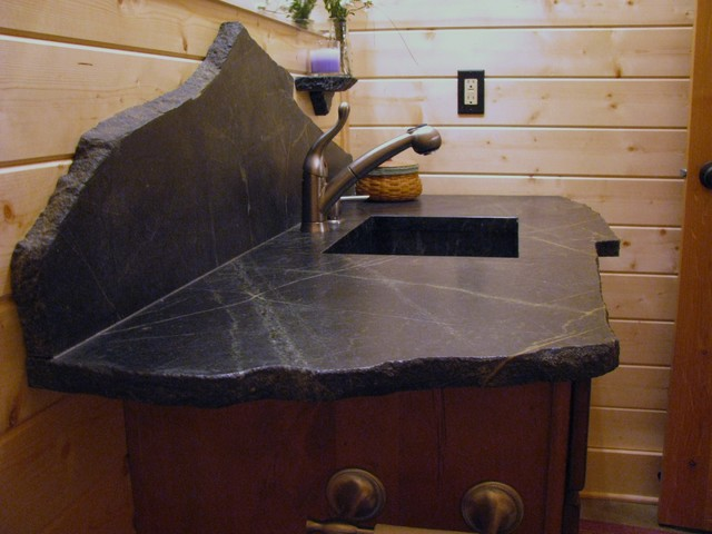Saratoga Soapstone Vanity Top Eclectic Vanity Tops And