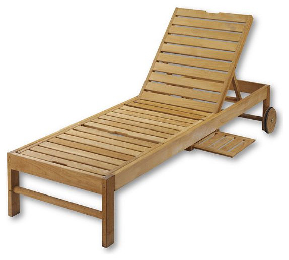 Teak Chaise Chair Traditional Outdoor Chaise Lounges by Lands End
