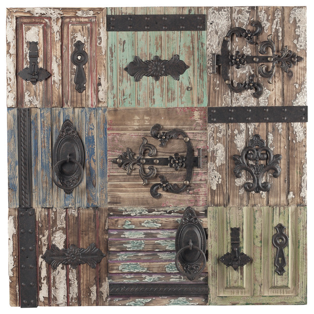 Assorted vintage chic antique door hinge wall decor for Antique wall decor