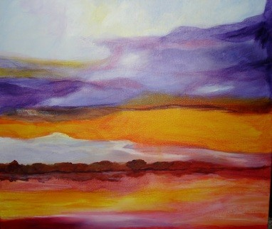 River Sunset (Original) by Laurelea Kim contemporary-originals-and-limited-editions