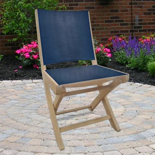 Royal Teak Sailmate Folding Side Chair contemporary-outdoor-chairs