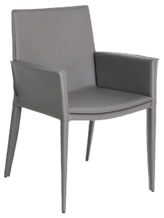 Tiffany Arm Chair by sohoConcept - Tiffany arm chair is a stylish arm chair with a comfortable upholstered seat and backrest with steel tube frame structure wrapped by regenerated leather. Each leg is tipped with a plastic glide inserted to the metal tube. This arm chair is perfect solution for waiting or reception areas. The chair has a slightly padded seat upholstered with regenerated leather only.The chair is suitable for both residential and commercial use.