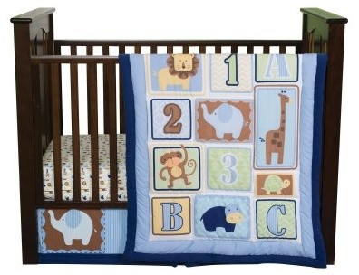 Trend Lab Baby Jungle 123 3 pc. Crib Bedding Set modern-cribs