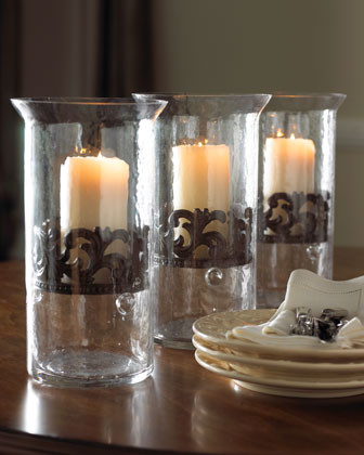 GG Collection Glass Candleholder traditional-candles-and-candle-holders