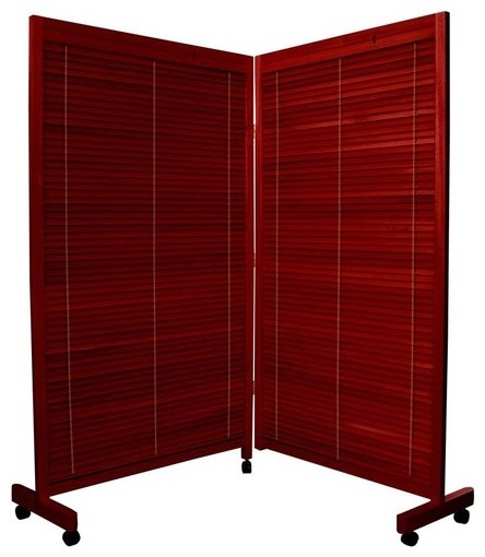 wooden shutter folding room divider modern screens and