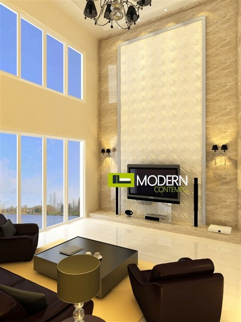 Exterior and Interior Glue on Wall 3d Surface Panel modern-wallpaper