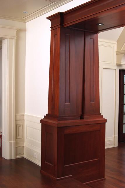 Custom mahogany craftsman wood columns craftsman columns Craftsman columns