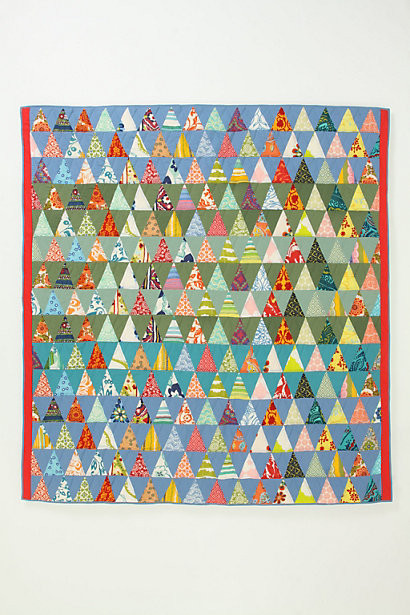 A.P.C. Semiologie Quilt, Colour Triangles eclectic-quilts-and-quilt-sets