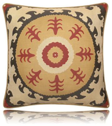 suzani sun pillow (22x22) contemporary-decorative-pillows