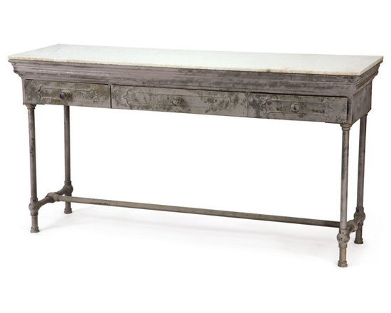 Go Home - Urban Farmhouse Console - Our Urban Farmhouse Collection is the definition of urban chic. Reclaimed wood, rusted iron and time worn accents insure that our unique collection of furniture, accessories and lighting will take center stage in any style of decor. Mix and match with our Industrial accessories for a stylish eclectic look your friends will think you paid a designer for.