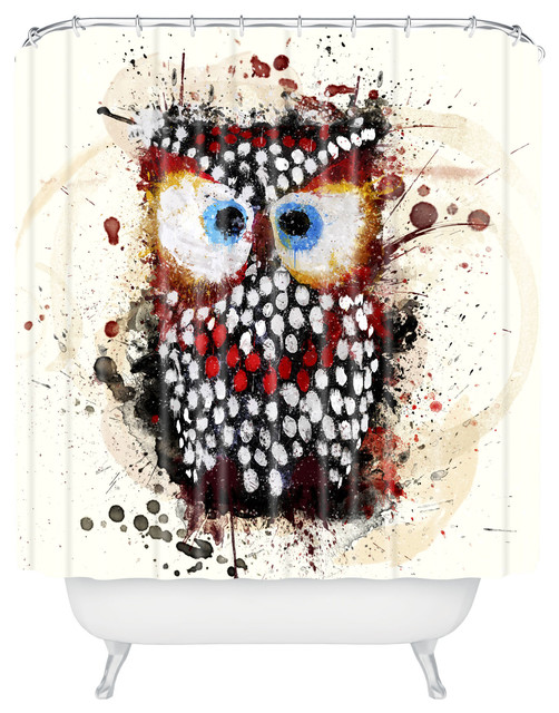 msimioni the owl shower curtain contemporary shower curtains by