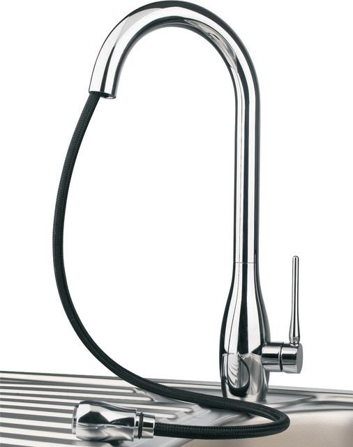 jar d brushed nickel luxury kitchen faucet modern