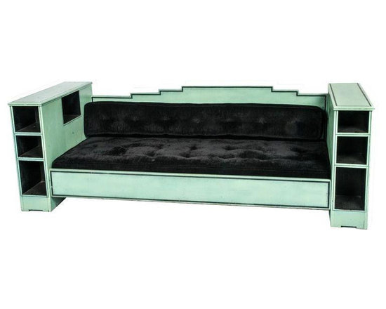 Vintage Paul Frankl SkyScraper Style Day Bed - Dimensions 93.25ʺW × 35.5ʺD × 13.0ʺH