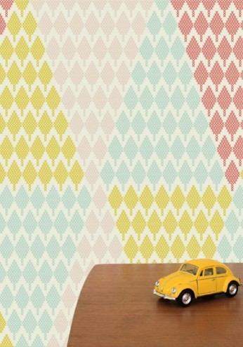 Forest Views Wallpaper, Tiny Tree Triangle contemporary-wallpaper