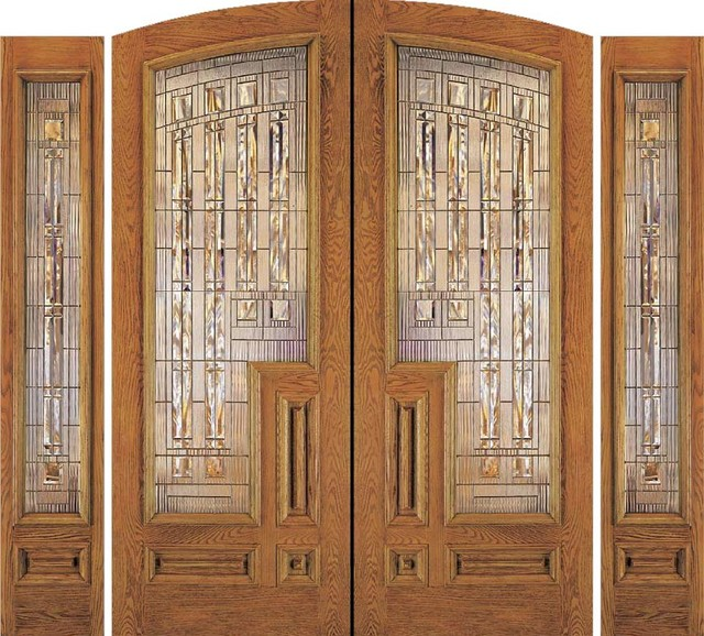 Jeld wen a201 oak woodgrain doors sidelights honey finish - Jeld wen exterior doors with sidelights ...