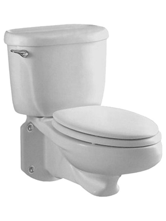 "American Standard - American Standard 2093.100.222 Glenwall Wall-Mounted Toilet, Linen - American Standard 2093.100.222 Glenwall Pressure-Assisted Wall-Mounted Toilet, Linen. This pressure-assisted wall-mounted toilet features an elongated bowl, a fully glazed 2-1/8"" trapway with a 2"" minimum ballpass, a close-coupled flush-o-meter tank, a side-mounted chrome metal trip lever, a sanitary bar on the bowl, and a Speed Connect tank/bowl coupling system."